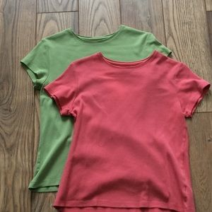2 Coldwater Creek cotton tee shirts